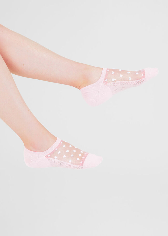 Set/3 Sheer Heart Socks, , hi-res