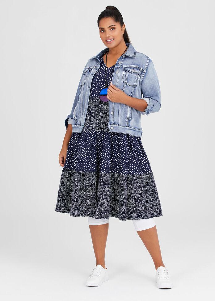 Organic Cotton Spot Dress, , hi-res