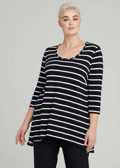 Cora Linear 3/4 Sleeve Top