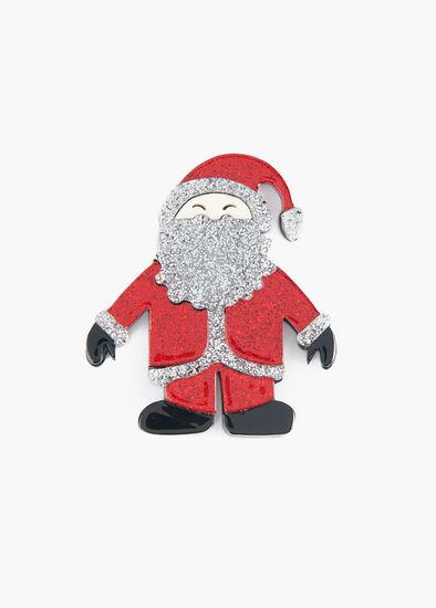 Sparkle Santa Brooch