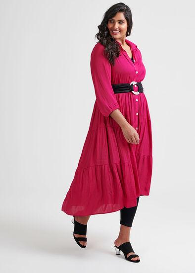 Luxe Bohemian Shirt Dress