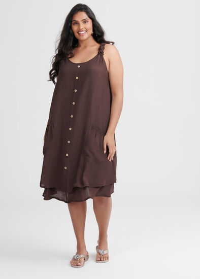 Sweet Escape Buttons Dress
