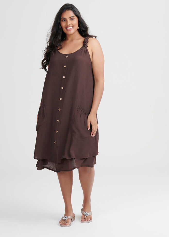 Sweet Escape Buttons Dress, , hi-res