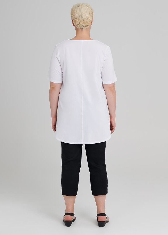 Cotton Base Short Sleeve Top, , hi-res
