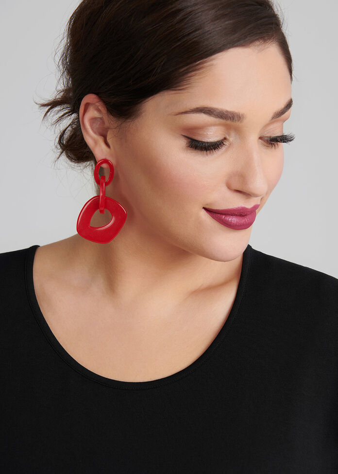 Scarlet Loop Earrings, , hi-res