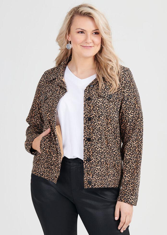 Animal Denim Jacket, , hi-res