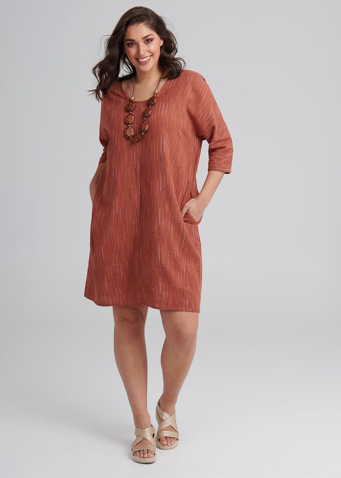 Linen Layla Dress, , hi-res