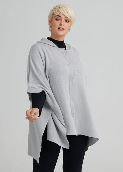 Hooded Sparkle Poncho