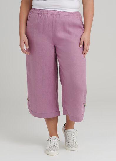 La Cite Linen Crop Pant