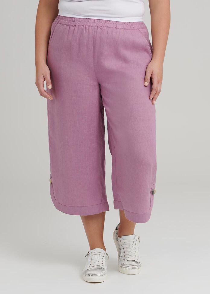 La Cite Linen Crop Pant, , hi-res
