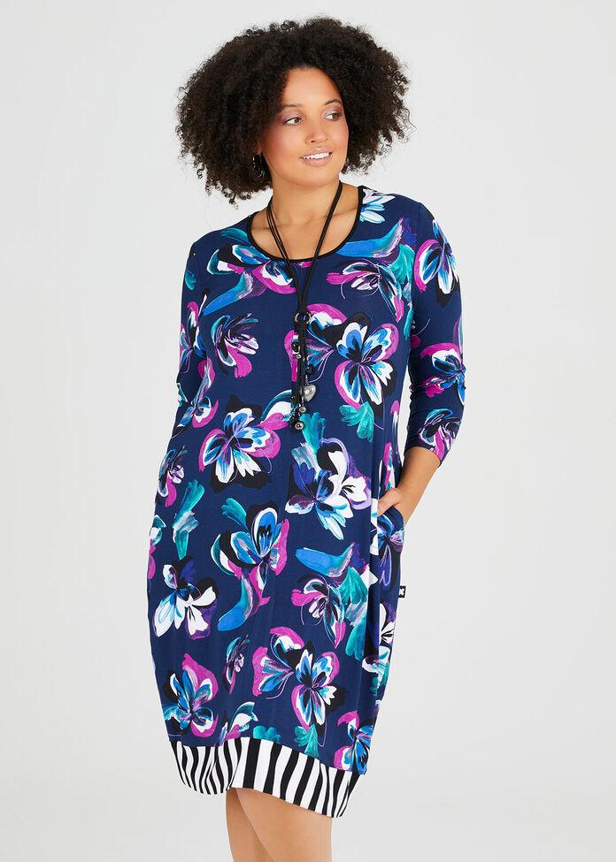 Blooms Of Blue Dress, , hi-res