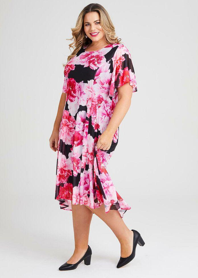 Floral Dream Mesh Maxi Dress, , hi-res