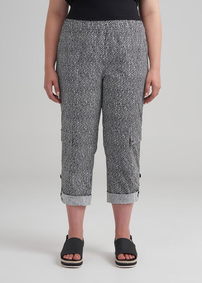 Geo Tribal Crop Pant, , hi-res
