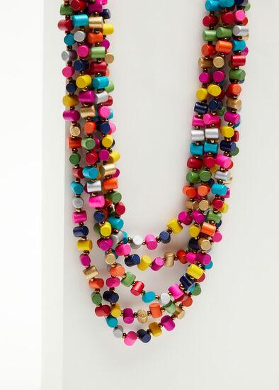 Bright Tube Bead Necklace