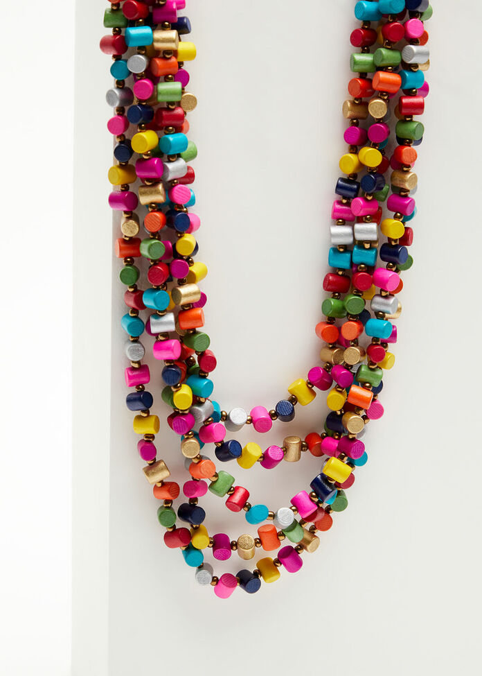 Bright Tube Bead Necklace, , hi-res