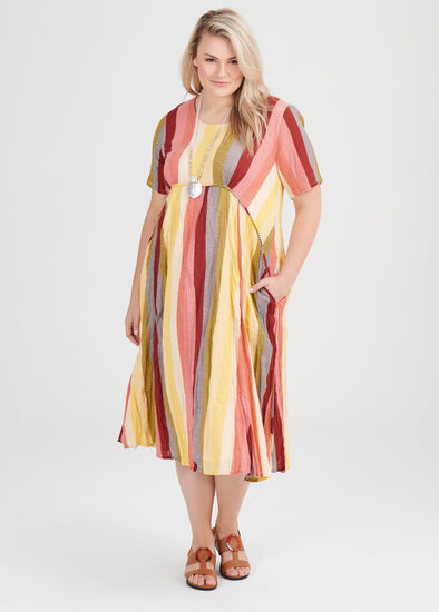 Cotton Tribal Stripe Dress