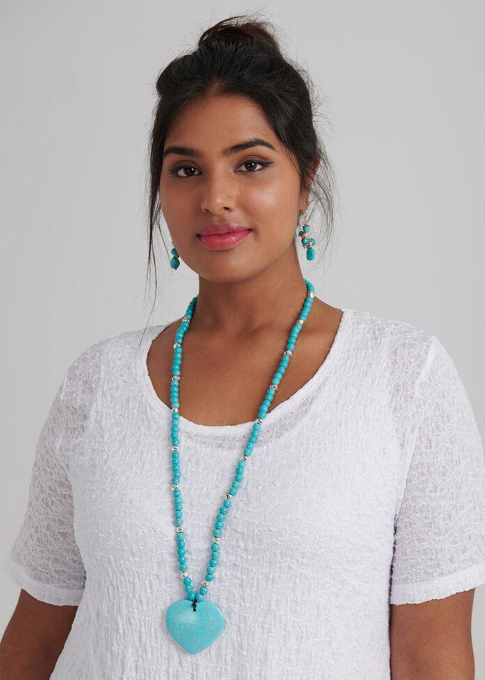 Azure Stone Necklace, , hi-res