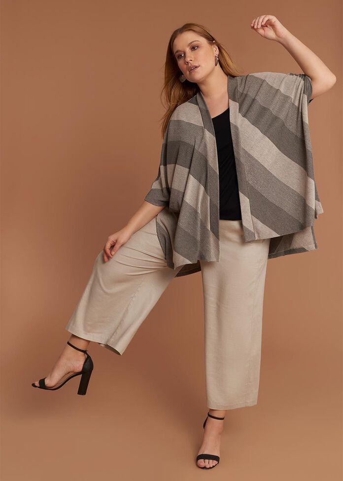 Stripe Knit Cardi, , hi-res
