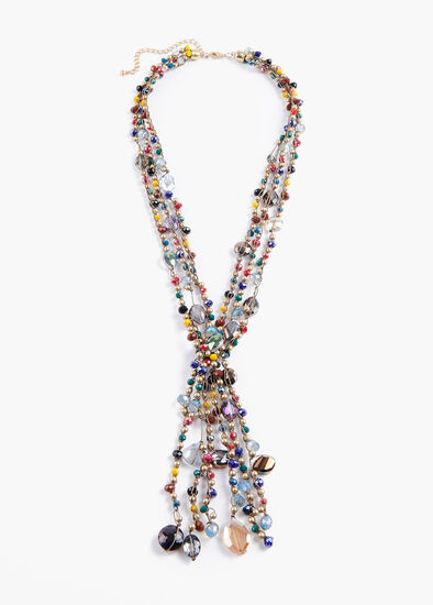 Rainbow Y Necklace