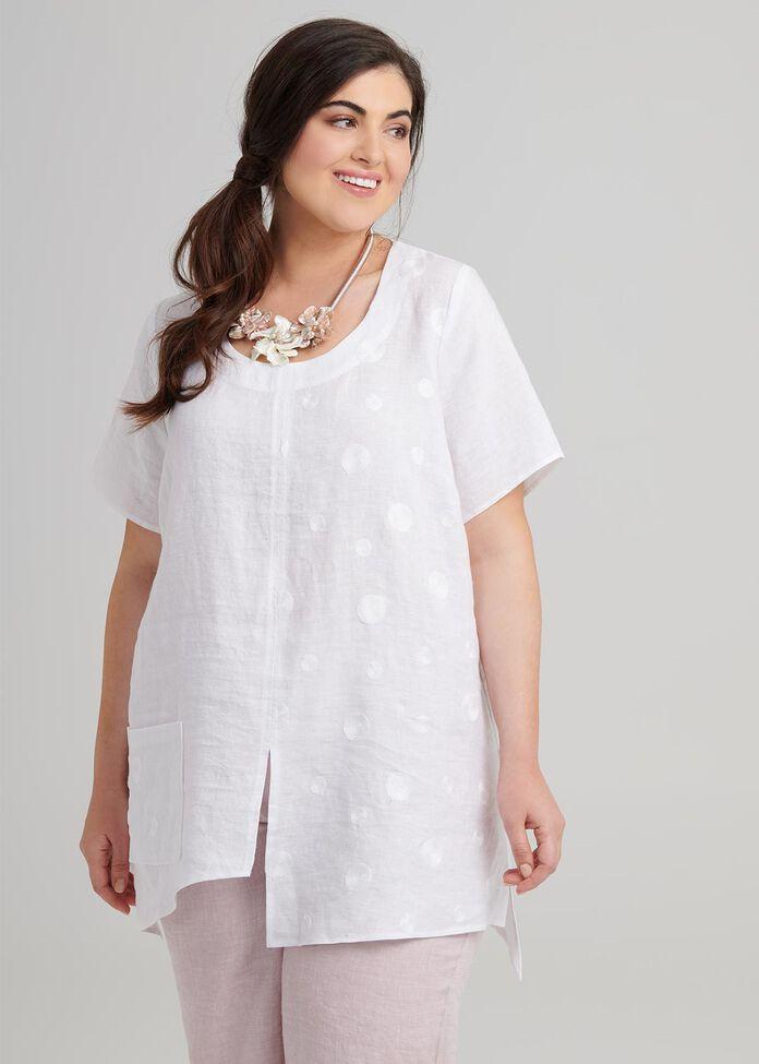 Mantra Linen Top, , hi-res