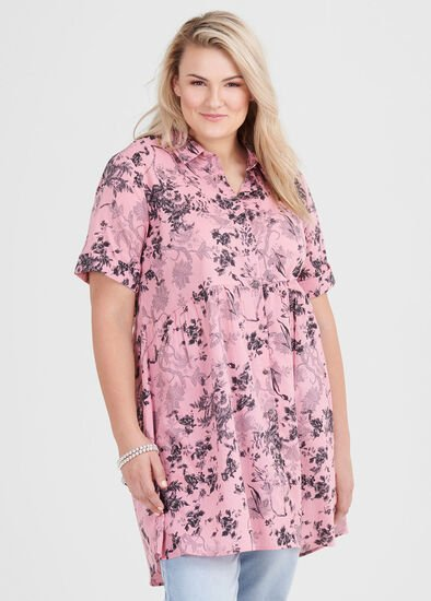 Cotton Floral Shadow Shirt