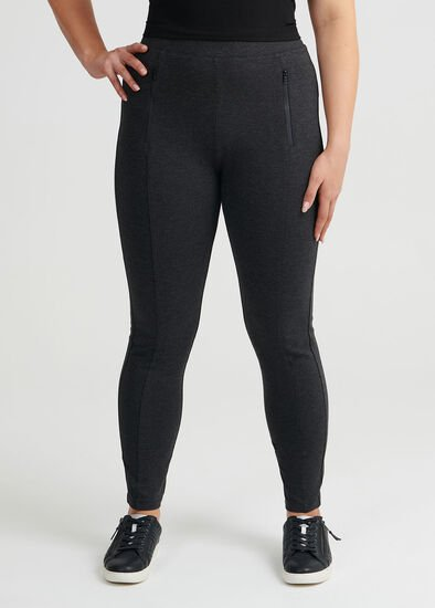 Zip Detail Ponti Legging