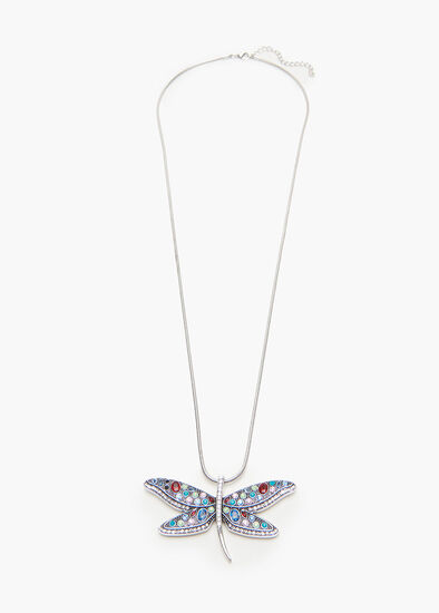 Bright Dragonfly Necklace