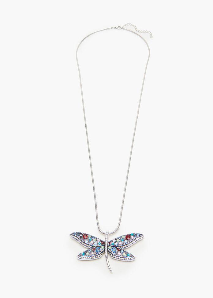Bright Dragonfly Necklace, , hi-res