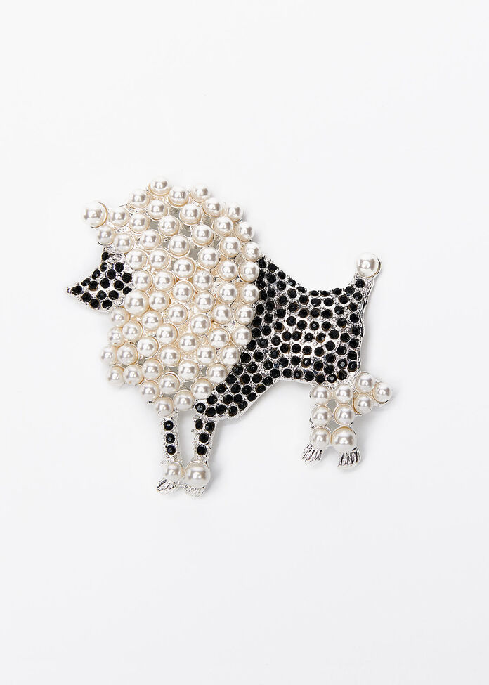 Walk The Dog Brooch, , hi-res