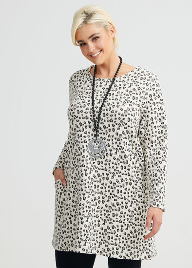 Leopard Jacquard Tunic