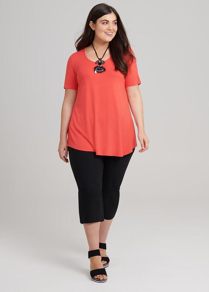Bamboo Base Short Sleeve Top, , hi-res