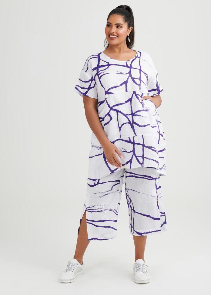 Jemima Linen Crop Pant, , hi-res