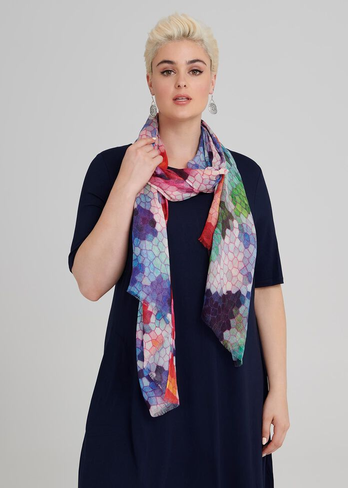 Stained Glass Scarf, , hi-res