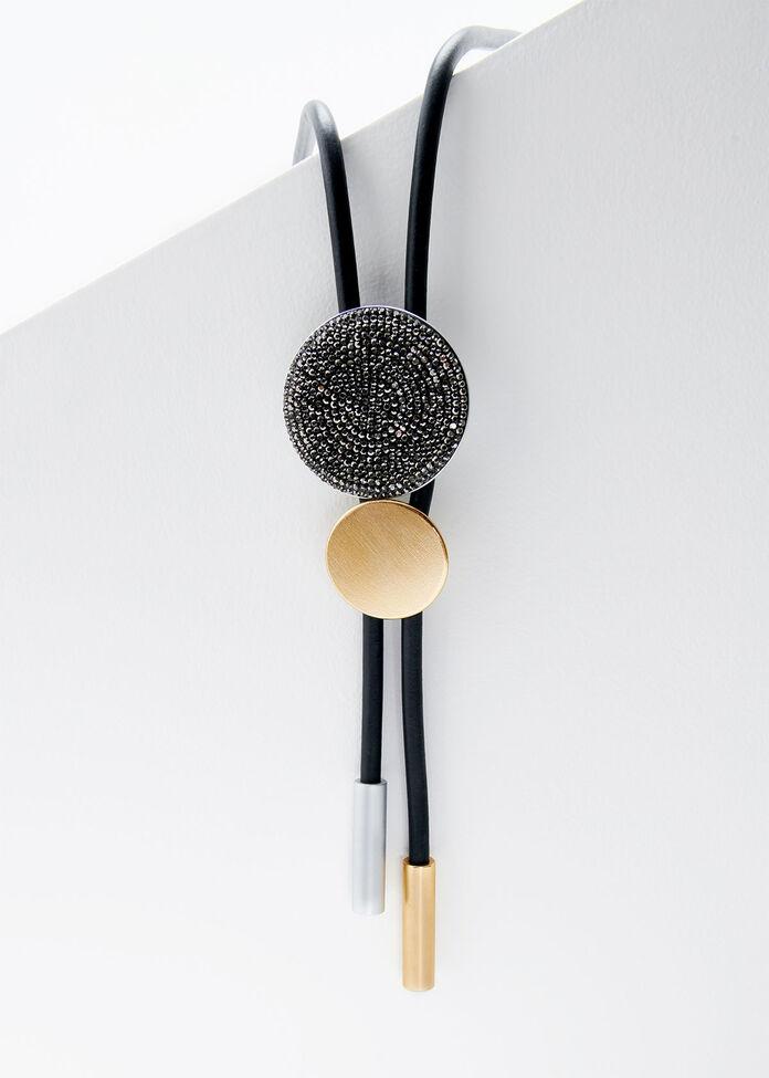 Crystal Disc Necklace, , hi-res