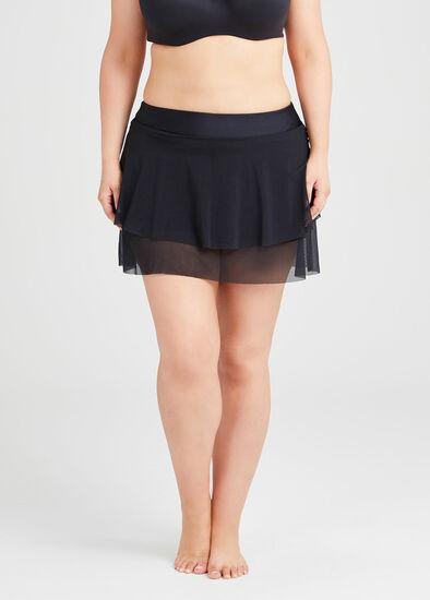 Layer Frill Mesh Skirt