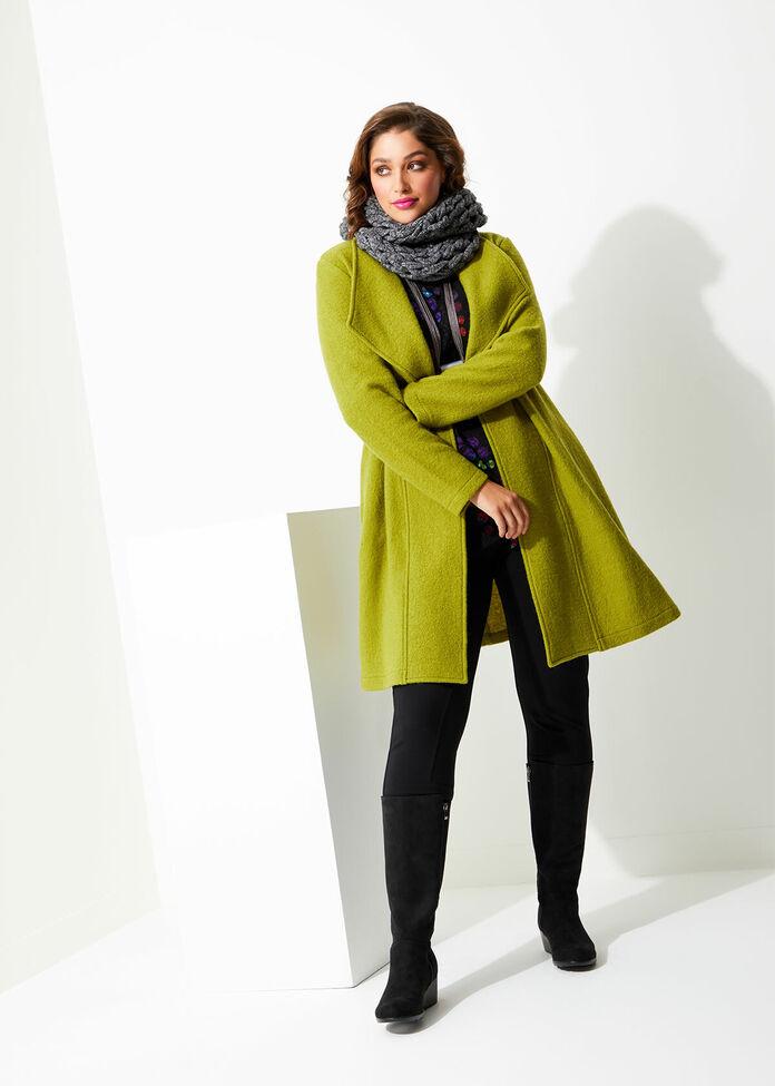 Morgan Boiled Wool Coat, , hi-res