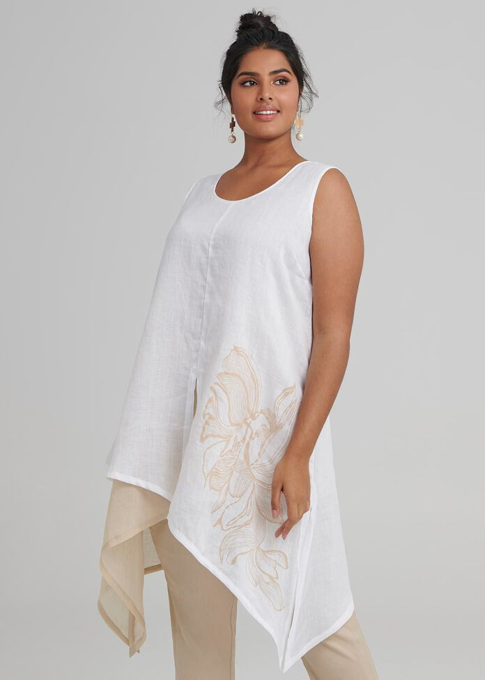 Linen Cabo Tunic, , hi-res