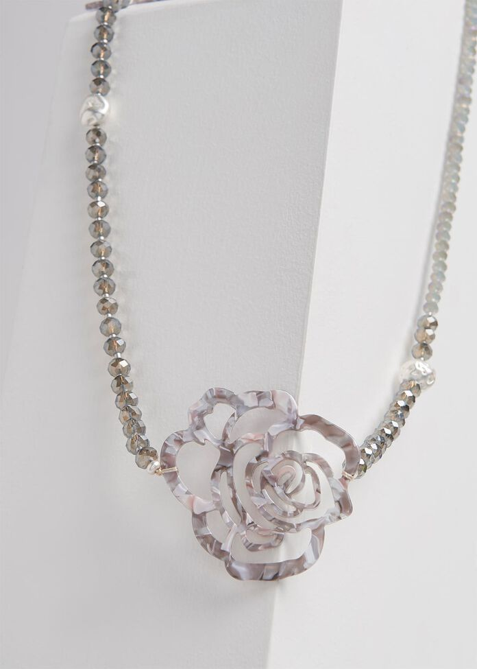 Snow Rose Necklace, , hi-res