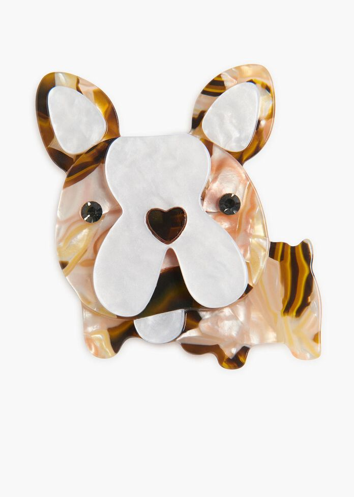 Little Frenchie Brooch, , hi-res