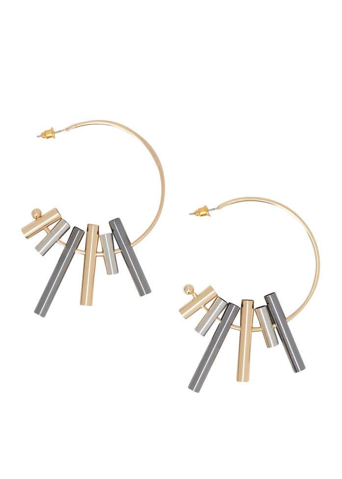 Tube Hoop Earrings, , hi-res