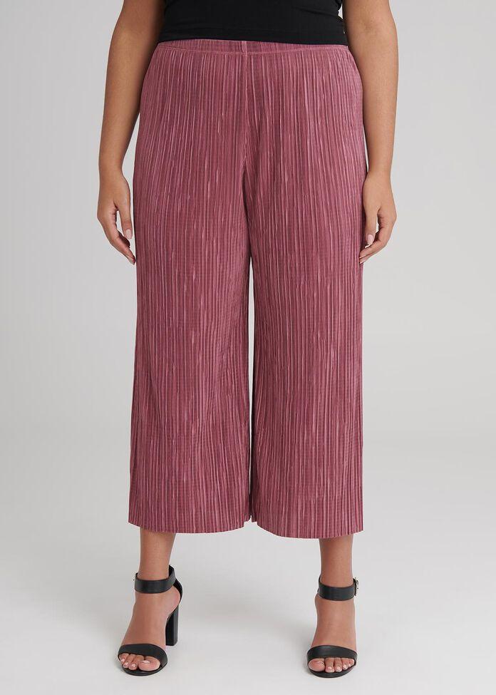 Pretty Pleat Crop Pant, , hi-res