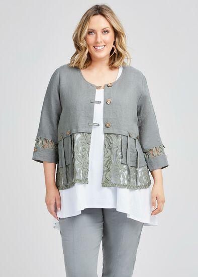 Kiki Linen & Lace Jacket