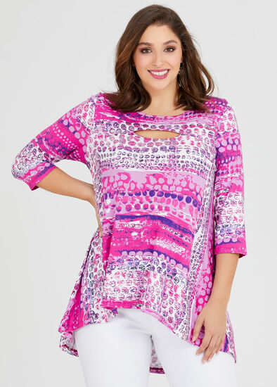 Ice Palace 3/4 Sleeve Natural Top
