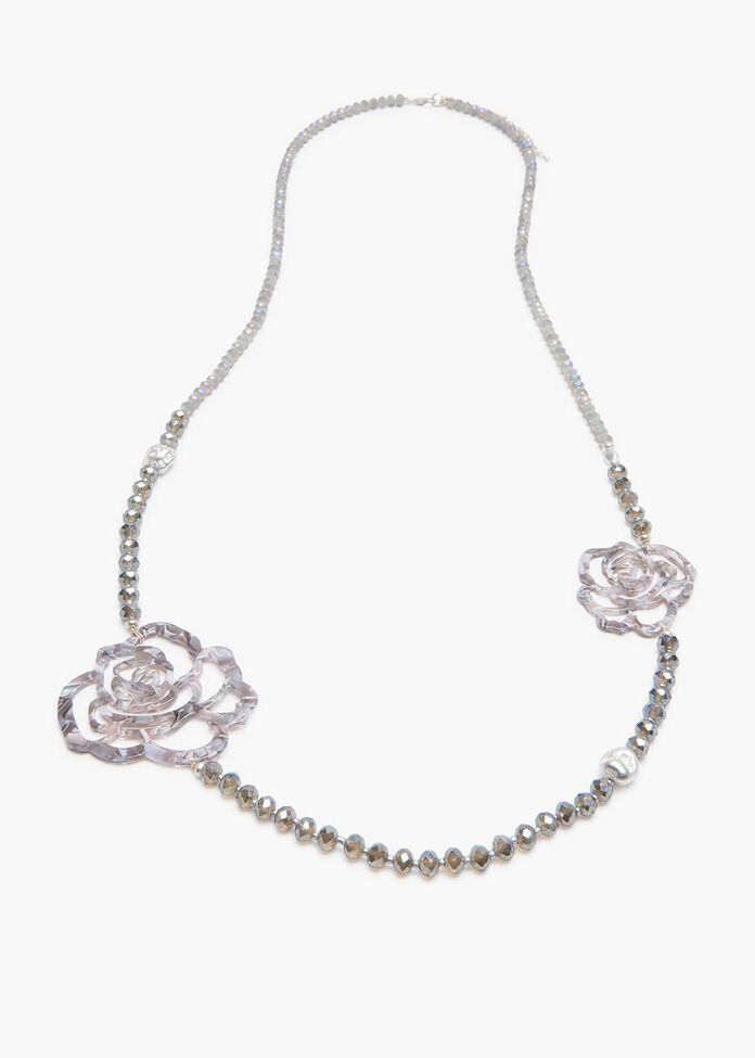Snow Rose Necklace, , hi-res