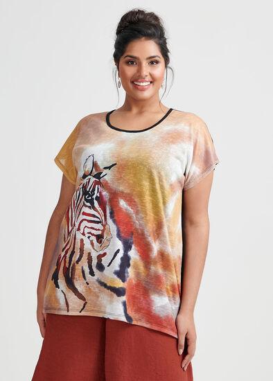 Zebra Slub Top