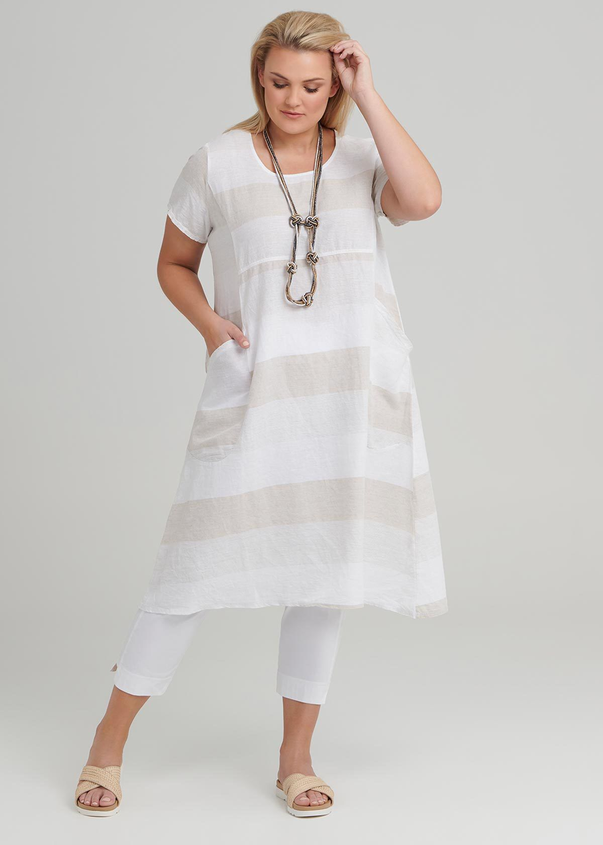 Felice Stripe Linen Dress