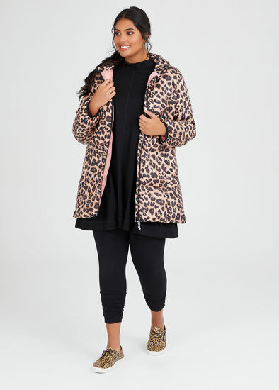 Leopard Puffer Jacket