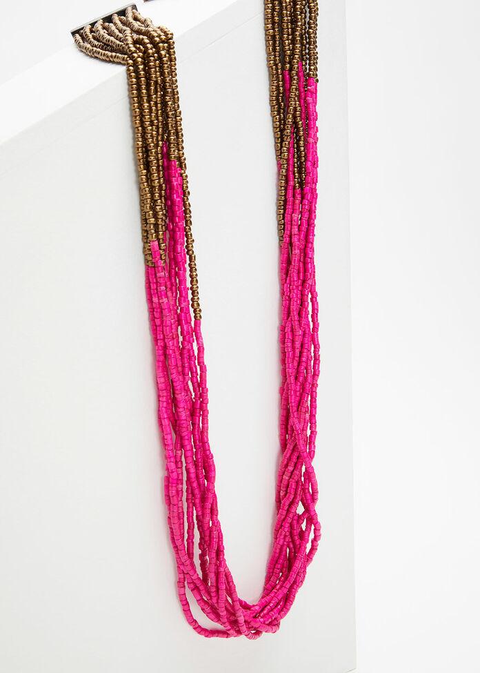 Magenta Glitz Necklace, , hi-res