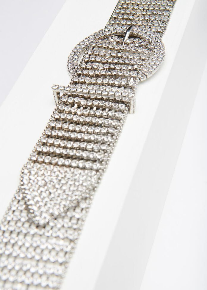Silver Bling Belt, , hi-res