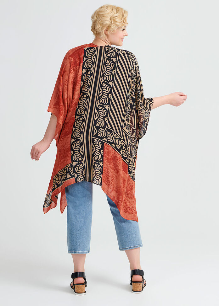 Terracotta Tribal Cape, , hi-res